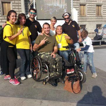 Fulvio & Masta con Tarek & Sara e Alessio Tavecchio, in compagnia delle organizzatrici dell'evento