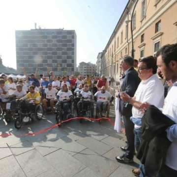 Partenza dell'Ability Run