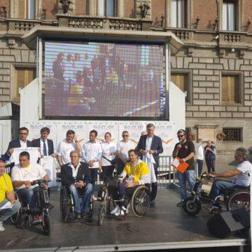 Presentazione dell'evento con il sindaco Allevi e la sua giunta