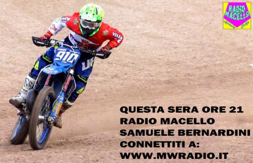 RADIO MACELLO 3 PUNT.18 OSPITE: SAMUELE BERNARDINI
