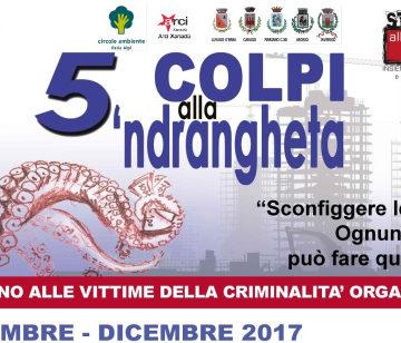 5 colpi alla 'ndrangheta