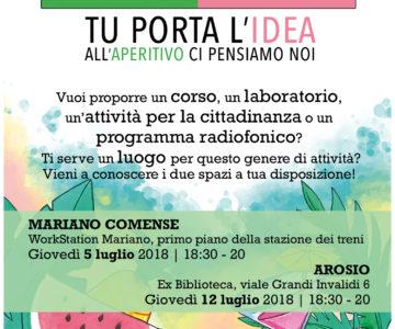 AperIdea: due aperitivi gratuiti a Mariano Comense ed Arosio per il progetto Rigenerazione!