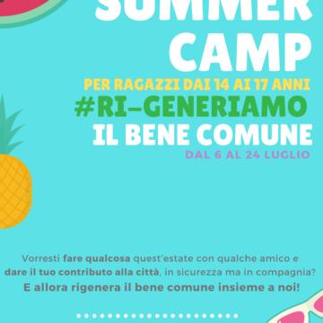 Iscriviti al Summer Camp #Ri-Generiamo il Bene Comune!